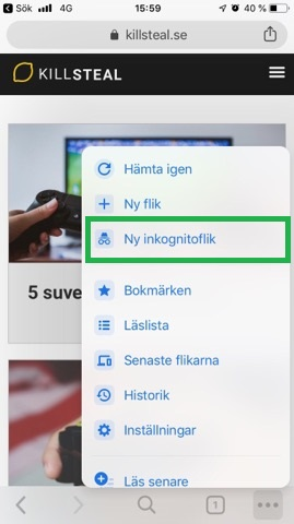 surfa anonymt på android