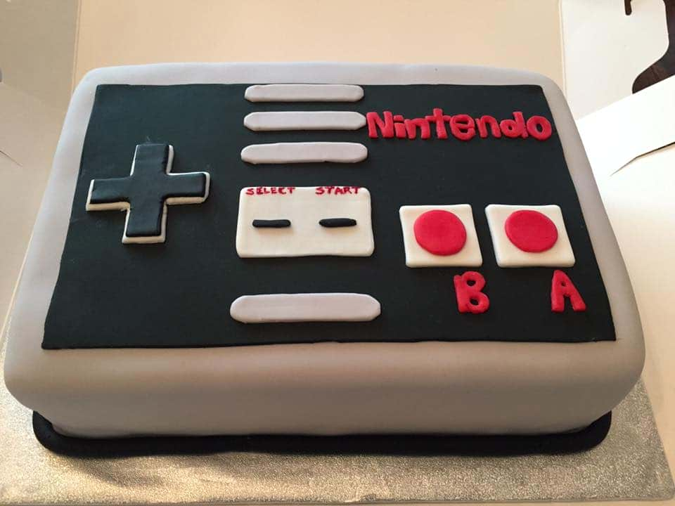 nintendo tårta