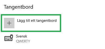 lägg till svenskt tangentbord